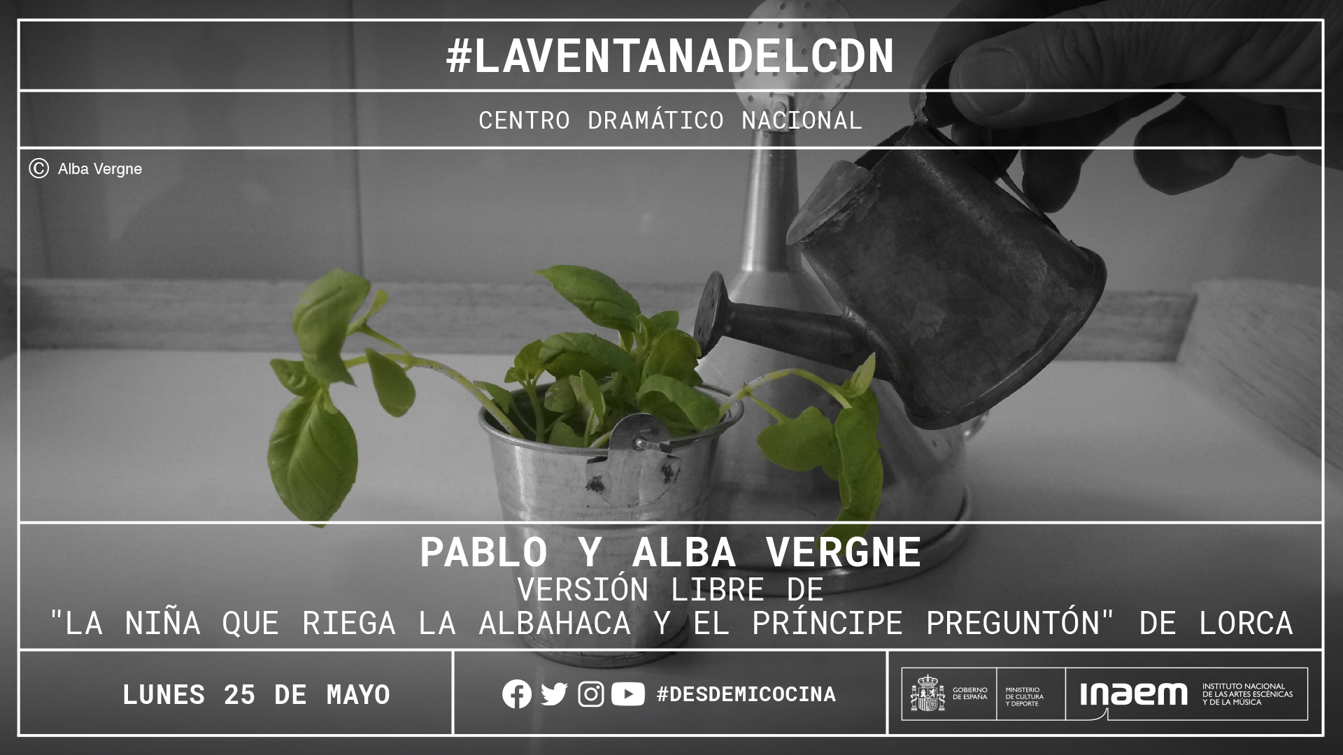 Pablo y Alba Vergne recrean «La niña que riega La albahaca» de Lorca desde su cocina