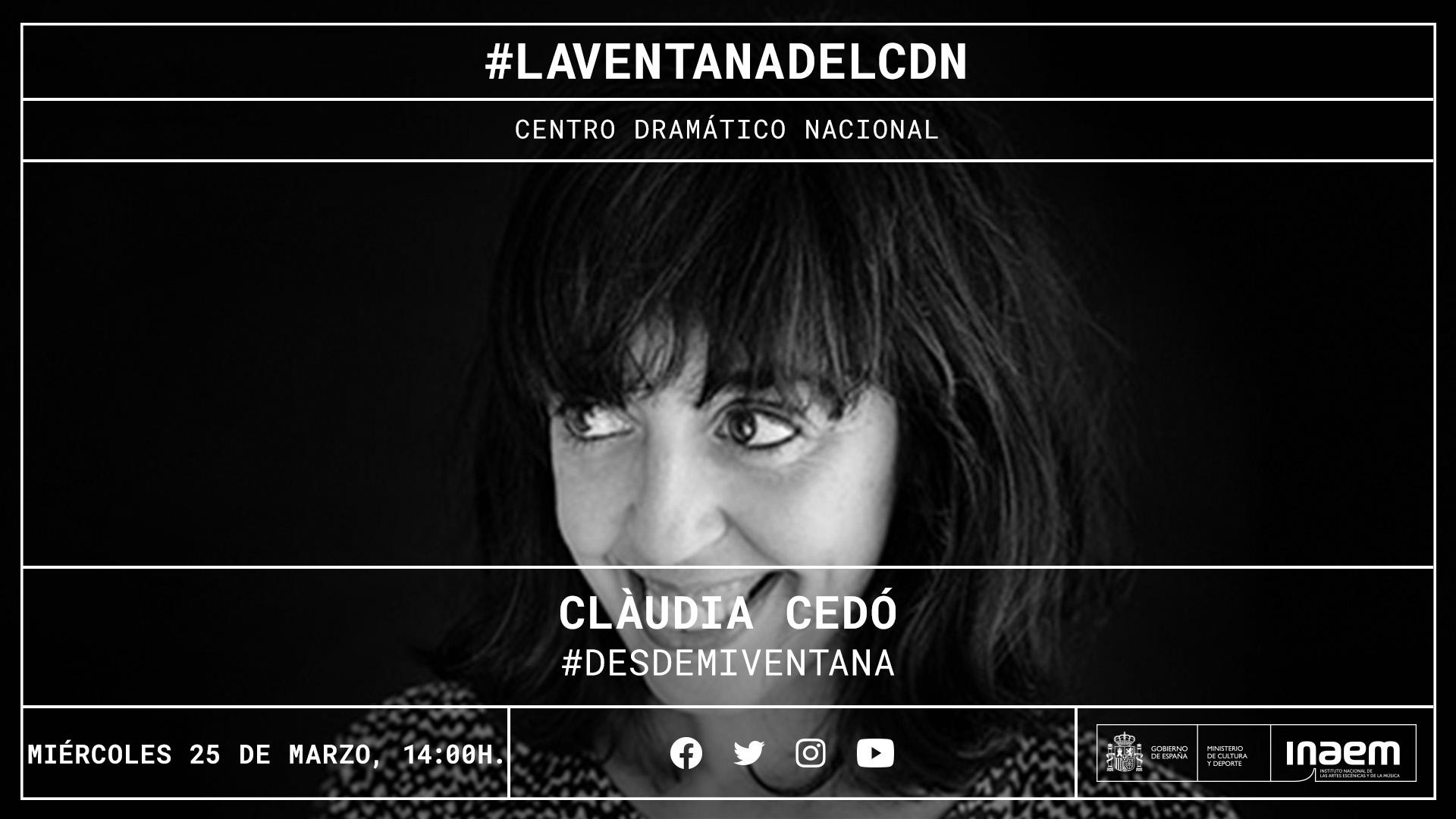 Claudia Cedó inaugura una nueva sección dedicada a creaciones sonoras y visuales en tiempos de cuarentena