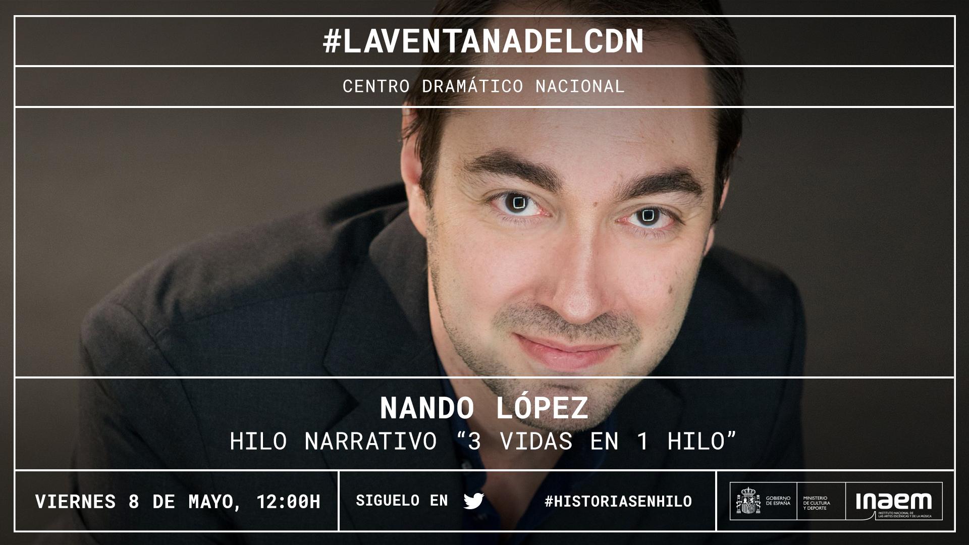 Nuestro Twitter se convierte en una hoja en blanco con la primera narración viva de Nando López