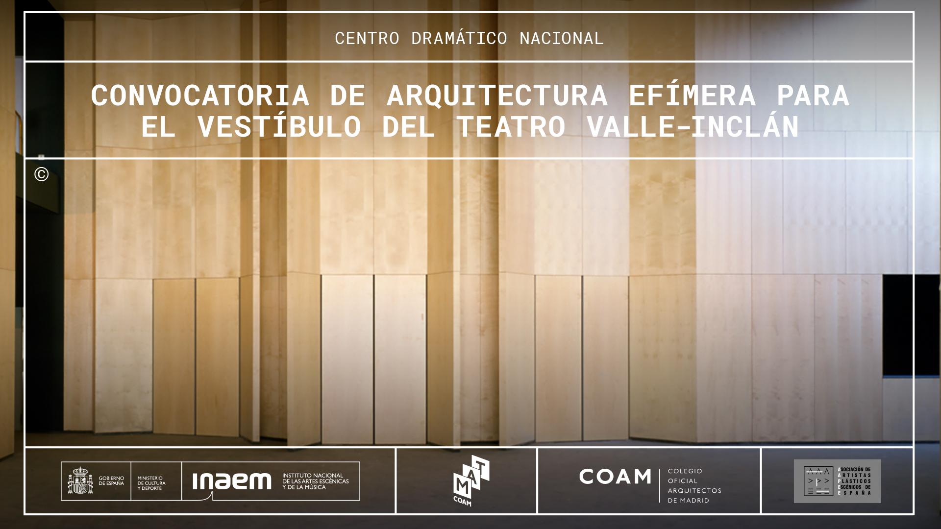 El CDN recibe 61 propuestas en la convocatoria de arquitectura efímera para el vestíbulo del Teatro Valle-Inclán