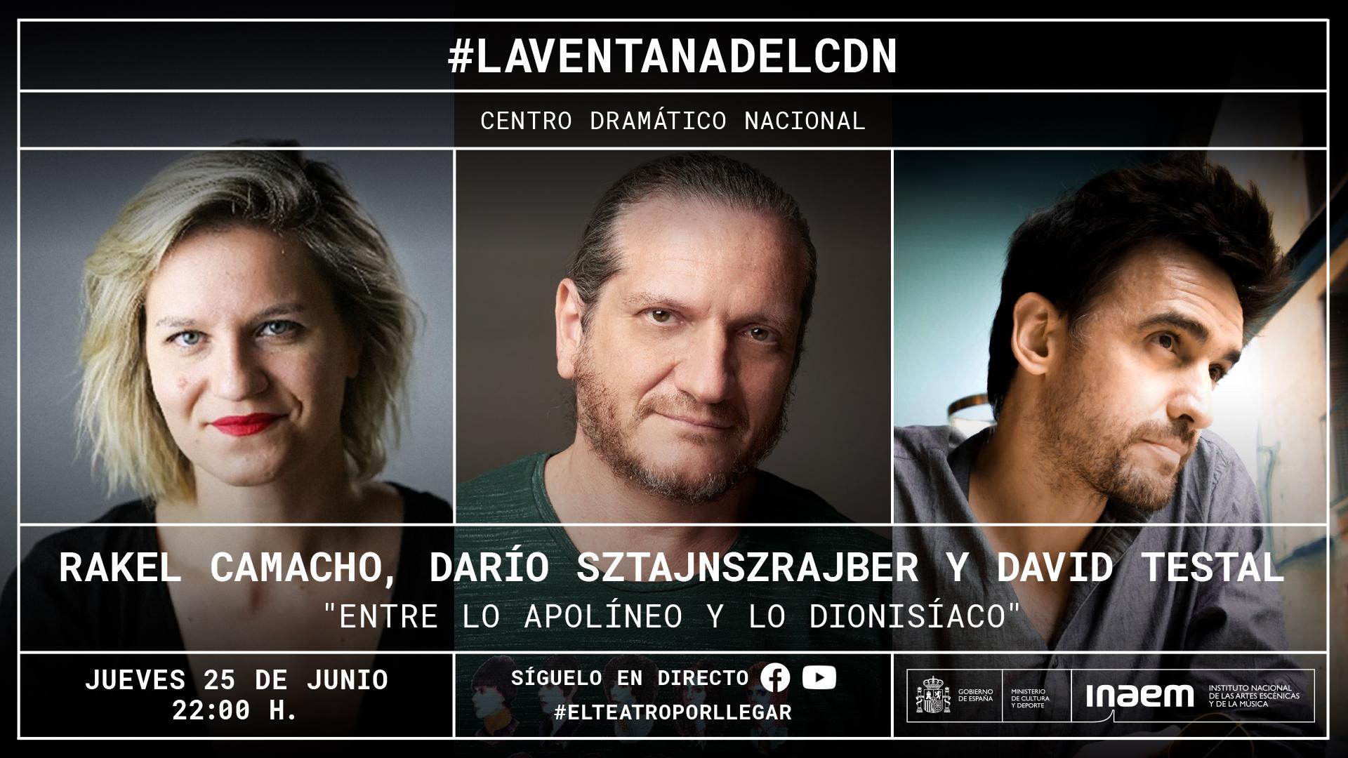 El CDN invita a Rakel Camacho, Darío Sztajnszrajber y David Testal a dialogar sobre lo apolíneo y lo dionisíaco en el arte