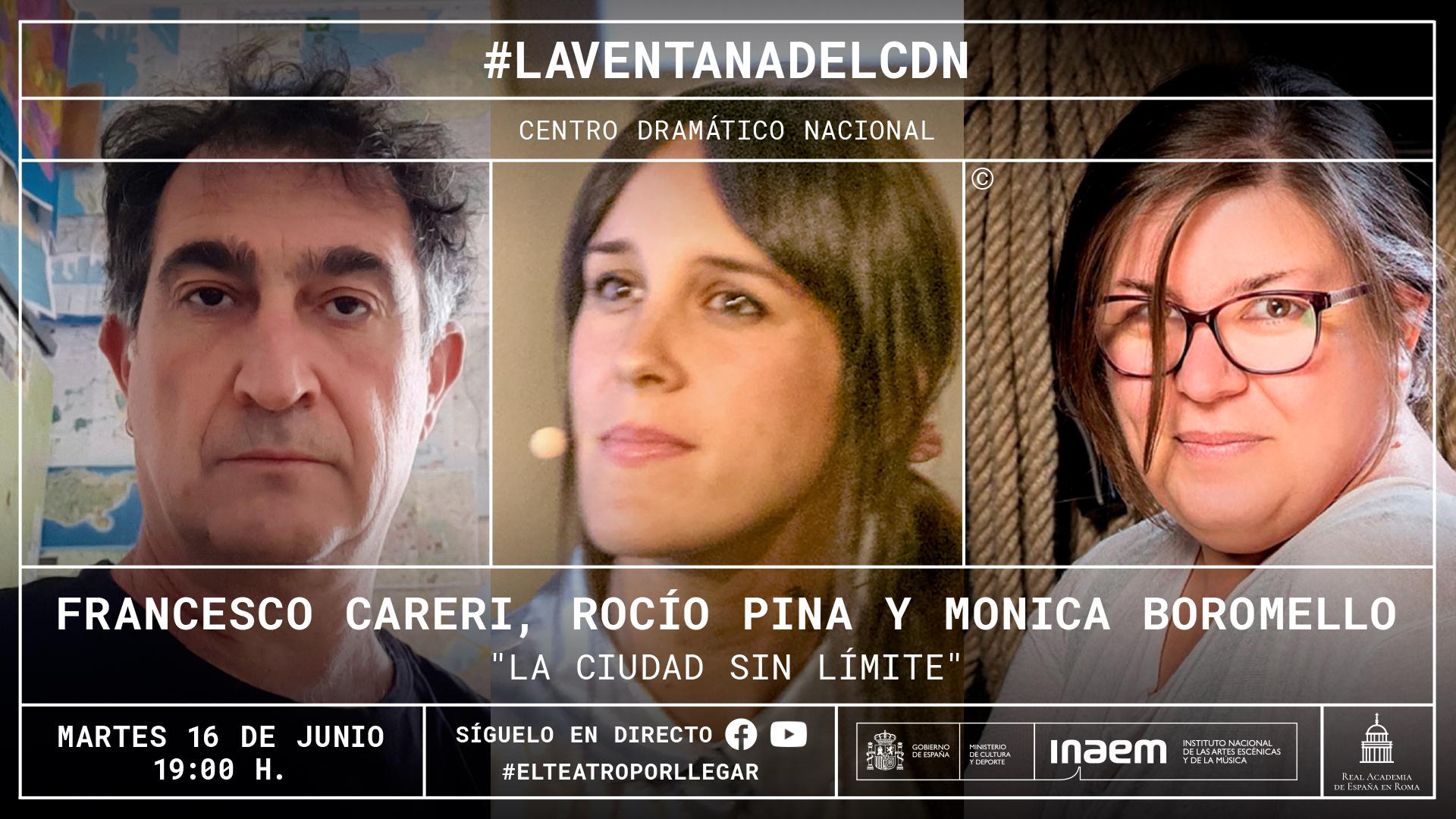 Monica Boromello, Francesco Careri y Rocío Pina Isla dialogarán sobre «La ciudad sin límite»